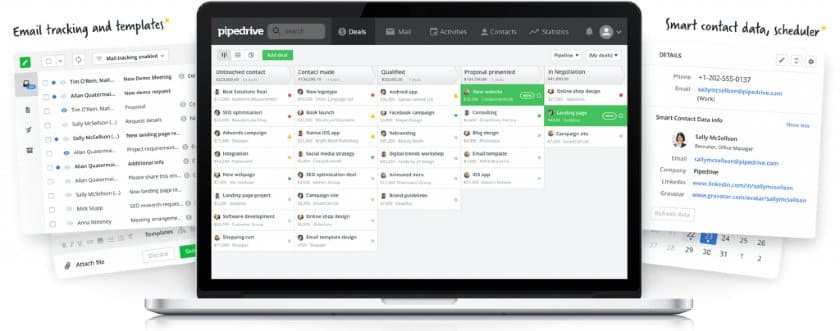 LinkedIn contact management tools in Pipedrive