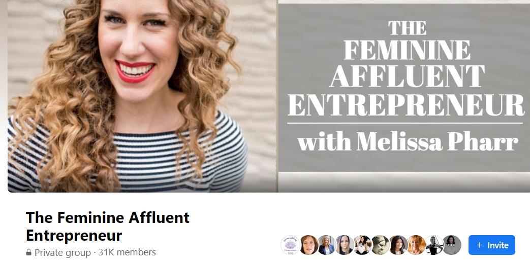The Feminine Affluent Entrepreneur Facebook group
