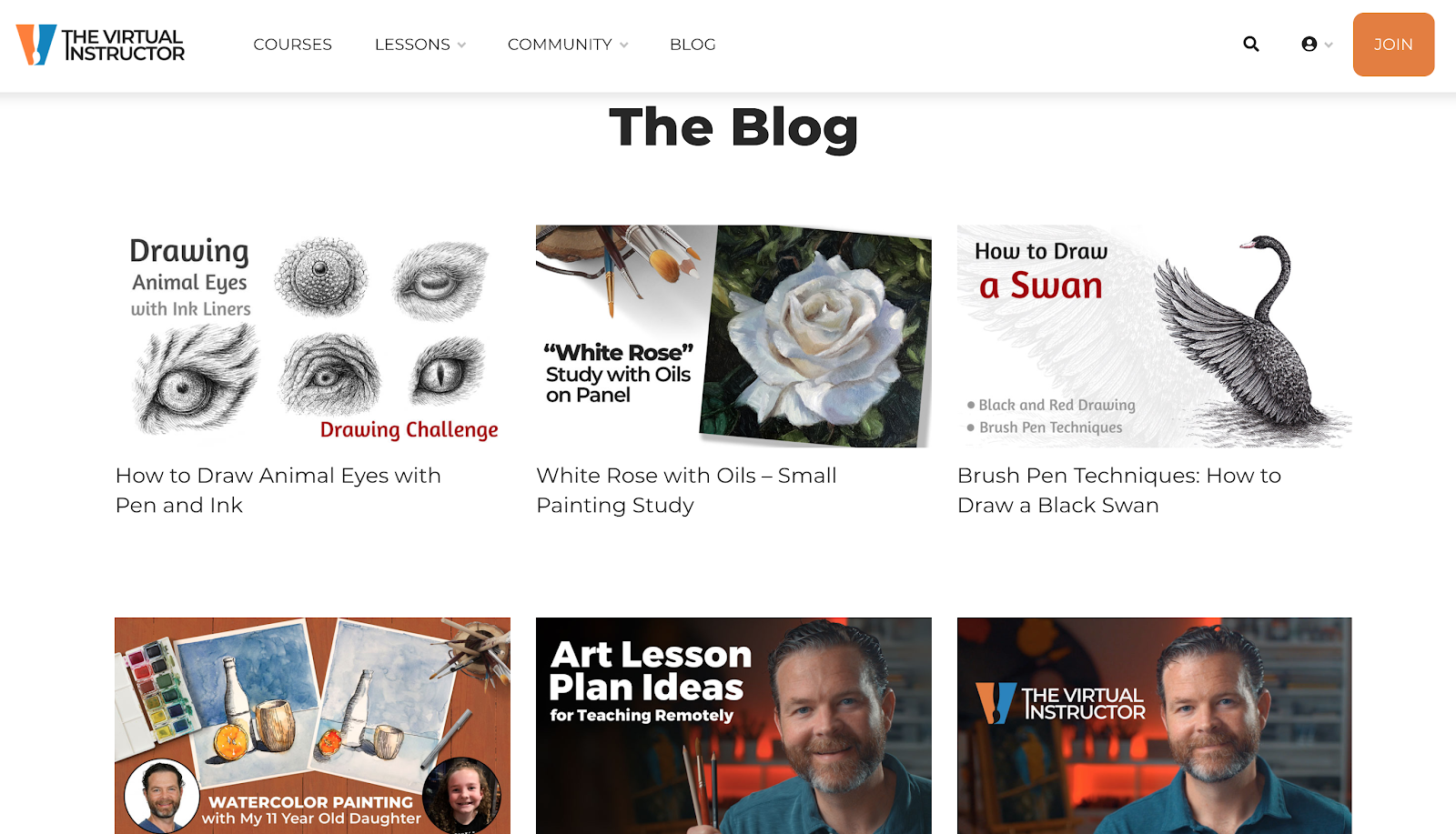The Virtual Instructor blog interface