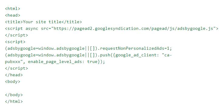 example adsense ad code