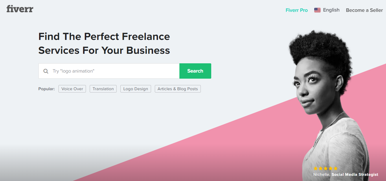 fiverr interface
