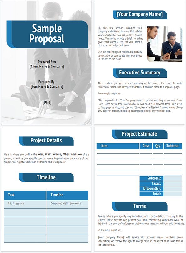 Business Proposal Template Thumbnail