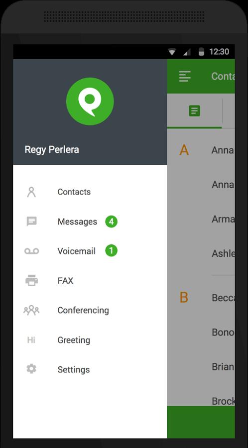 Phone.com mobile app