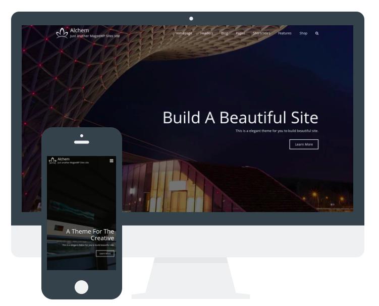 Alchem Responsive-design WordPress Website Theme