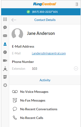 RingCentral Contact Management