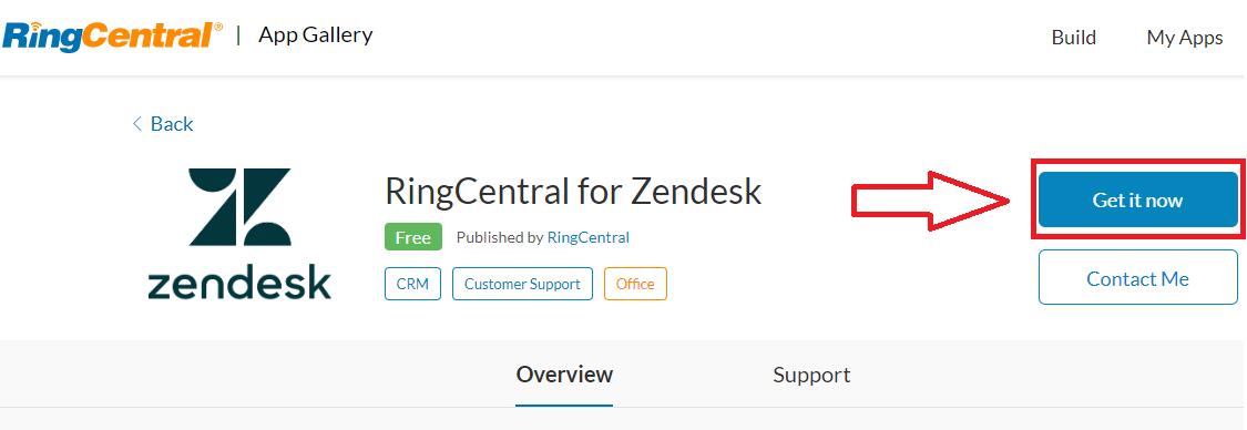 RingCentral for Zendesk download prompt