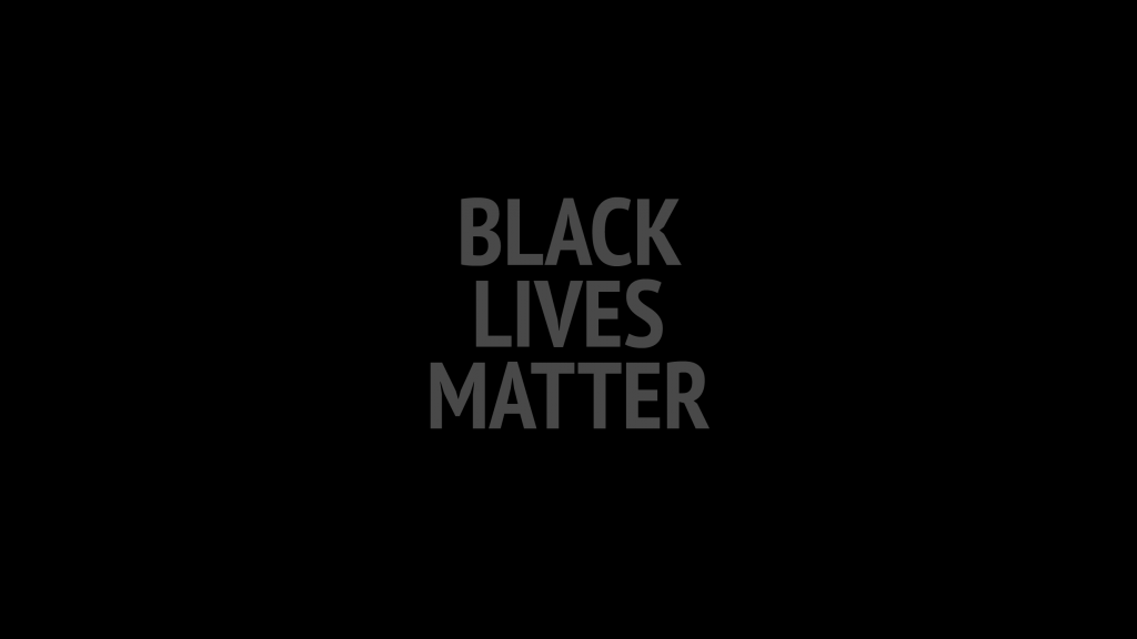 Text: 'Black Lives Matter' on black background