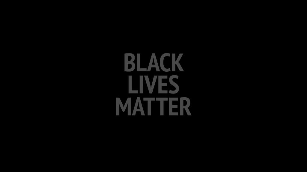 Text: 'Black Lives Matter' on black background