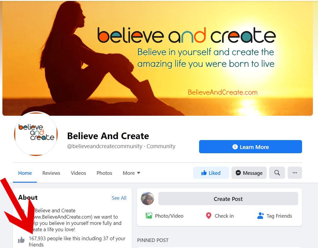 Believe and create example