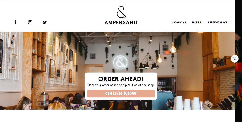 Ampersand Cafe Website
