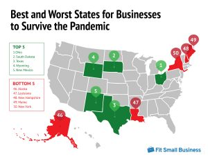 map for best and worst states for business