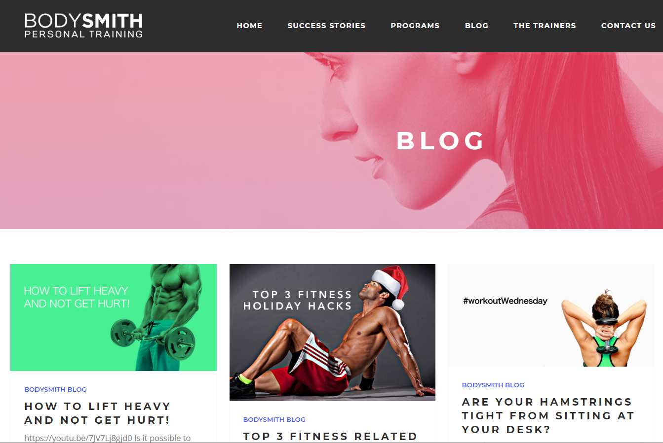 BodySmithKC.com fitness blog