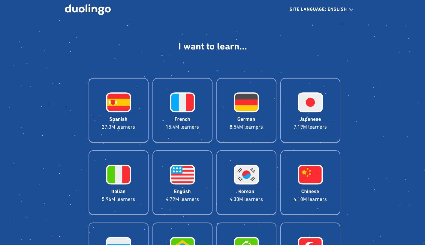 Duolingo Web Design