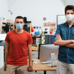 Men Wearing Surgical Mask