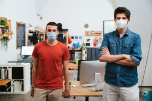 Men Wearing Surgical Mask
