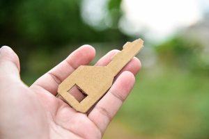cardboard key