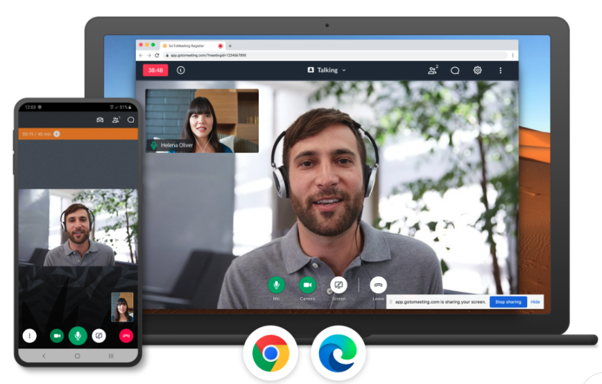 GoToMeeting's video conference dashboard