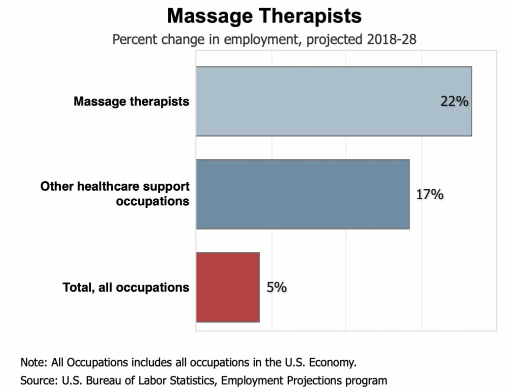 Massage Therapists Percent Change in Employment
