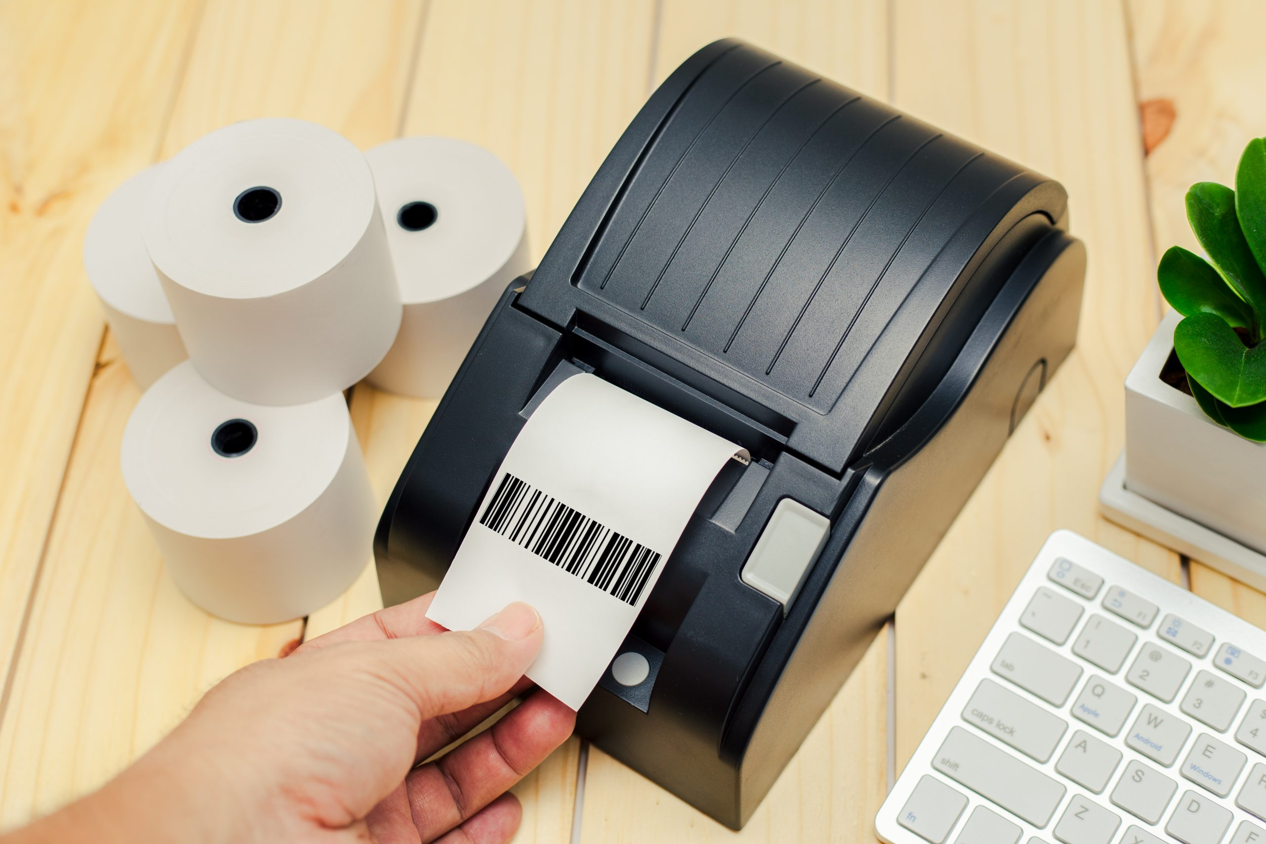 Label Printer with Rolled paper