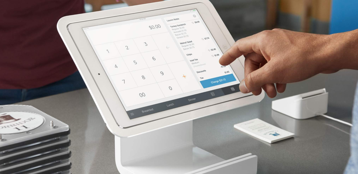 POS System in a tablet device