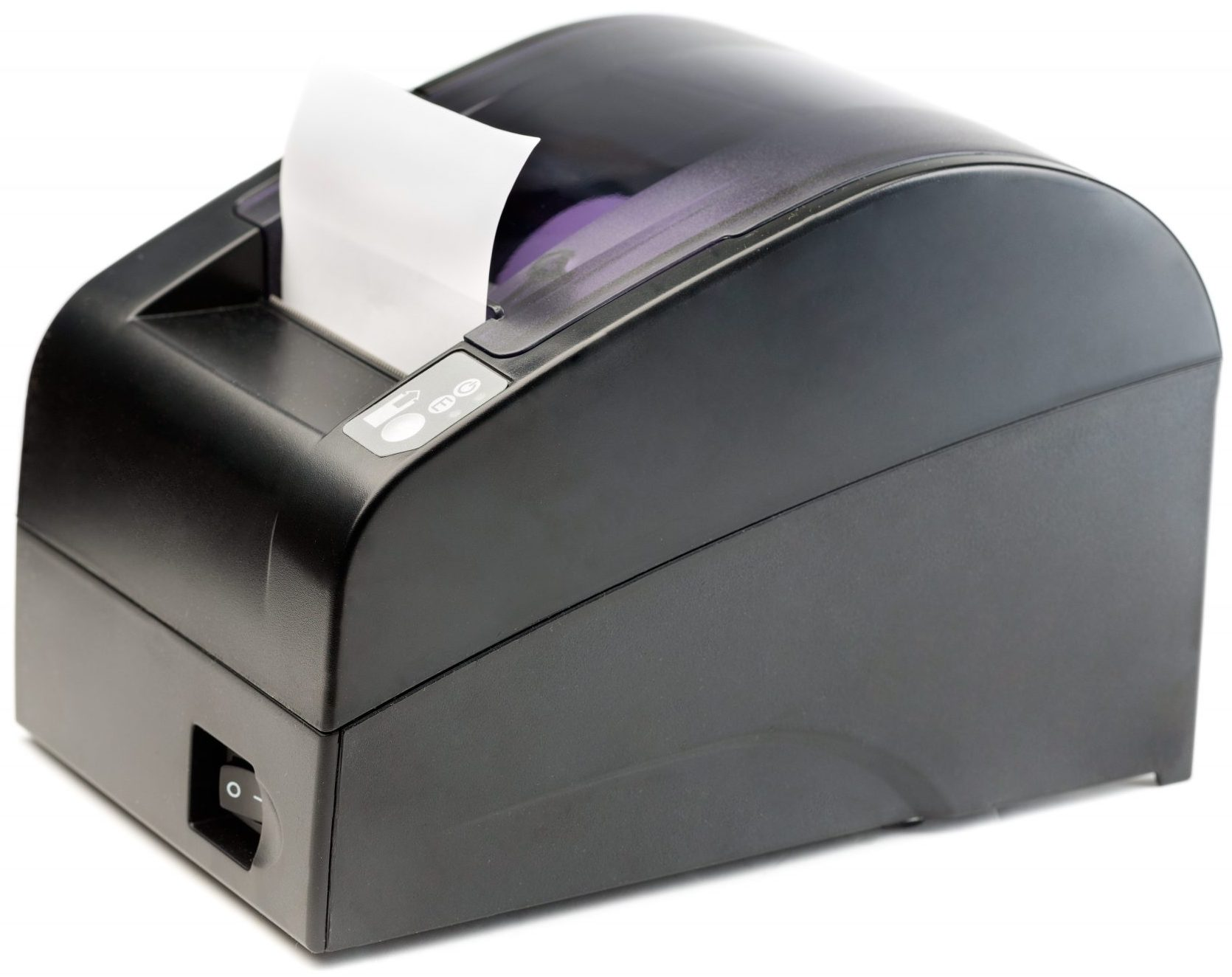 Black Receipt Printer