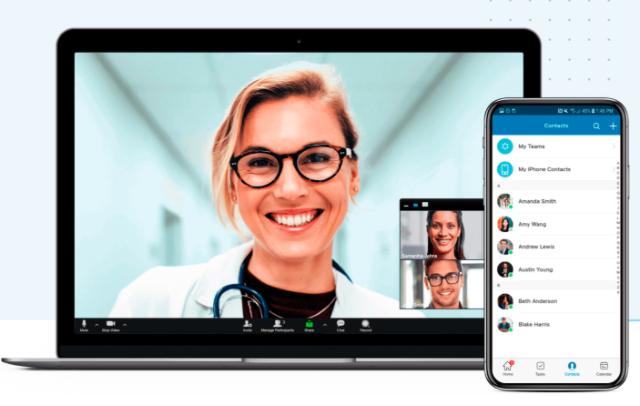 RingCentral video conferencing Desktop and Mobile Interface