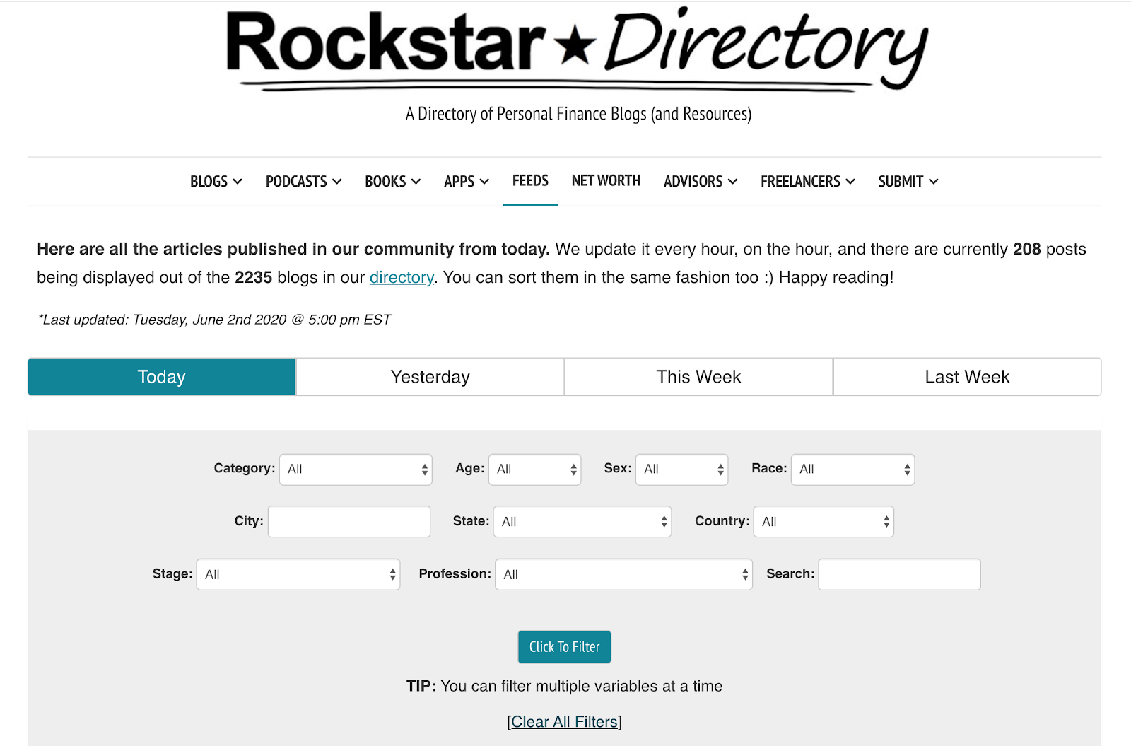 Rockstar Directory search feature interface