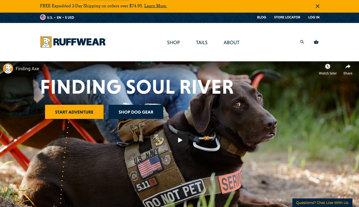 Ruffwear Website