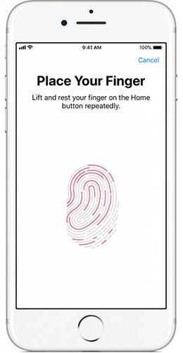 Screenshot of Using Thumbprint for Payment