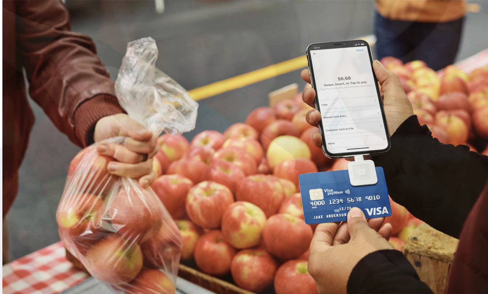Selling Peaches Mobile Credit Card Payment