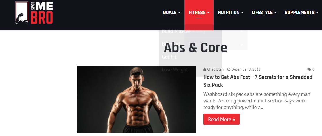 SpotMeBro.com bodybuilding blog targeted to men
