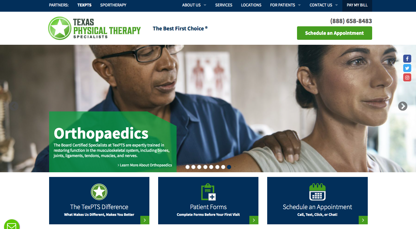 Texas Physical Therapy Website