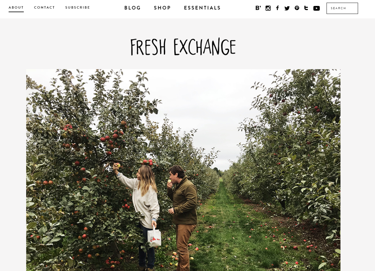 The Fresh Exchange blog's About page