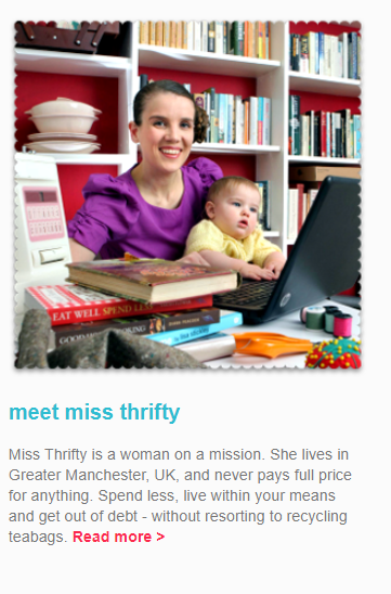 The Miss Thrifty blog