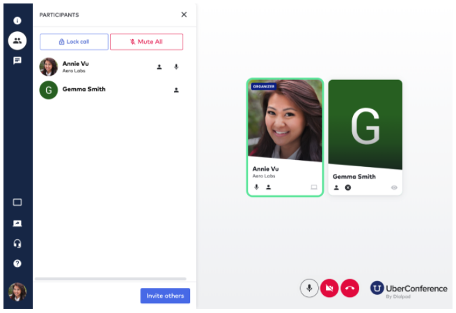 UberConference video call