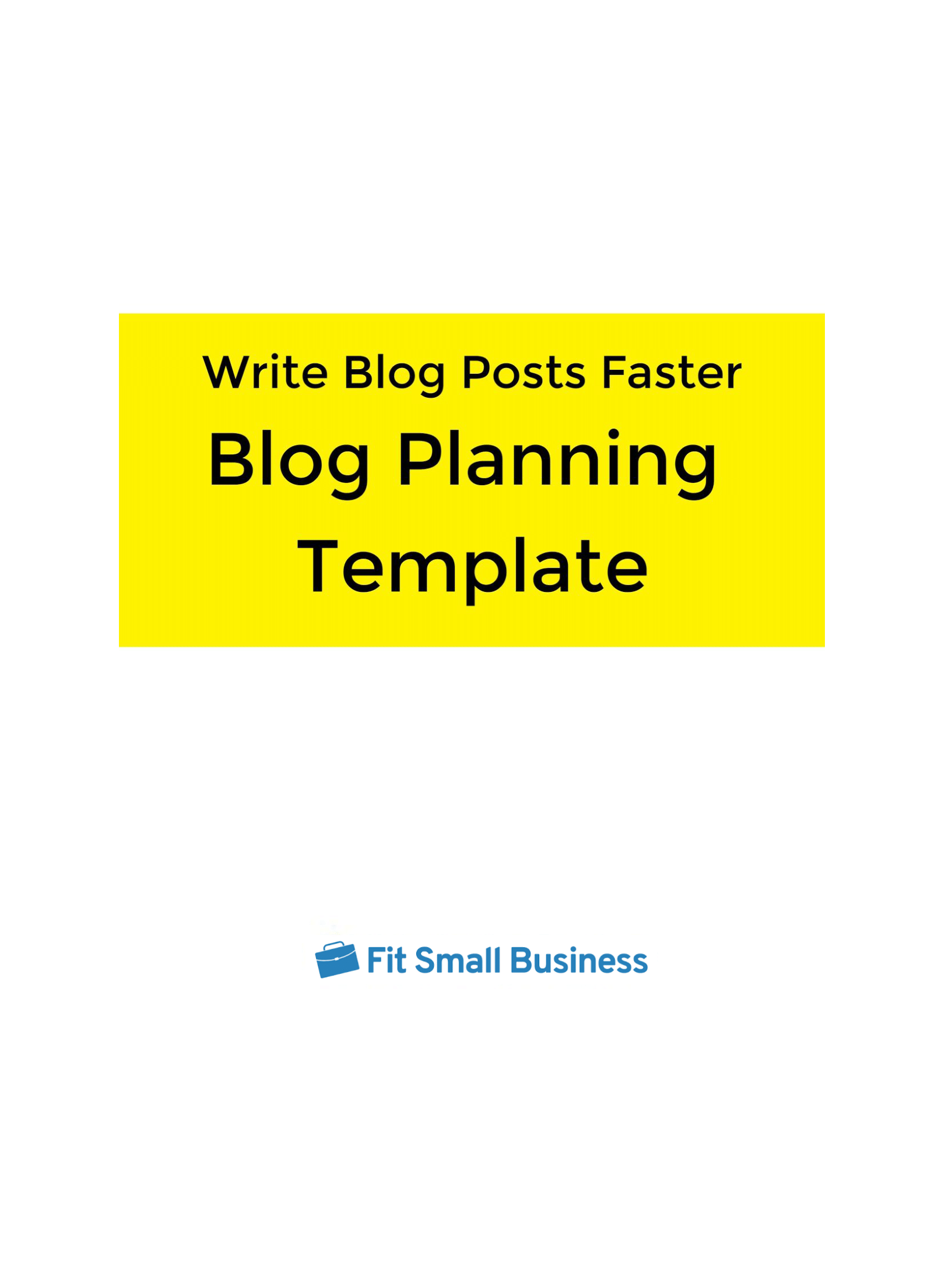 Write Blog Posts Faster template