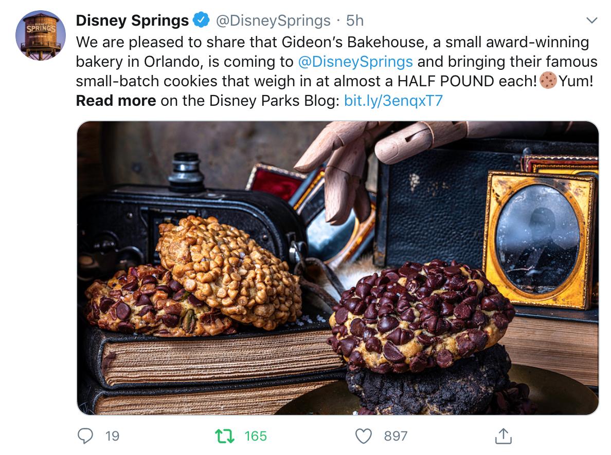 disney springs post with cookies