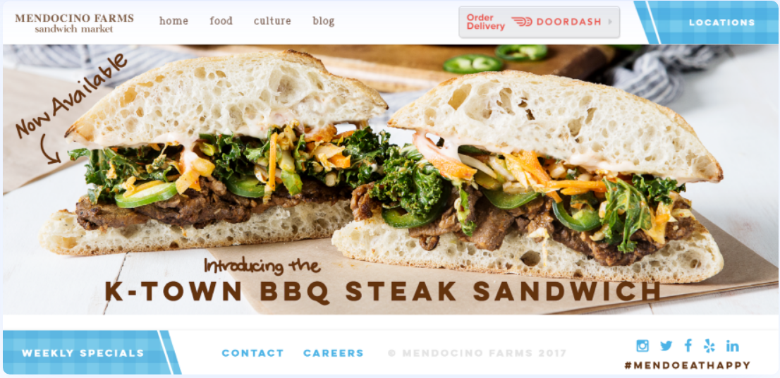 divi theme mendocino farms