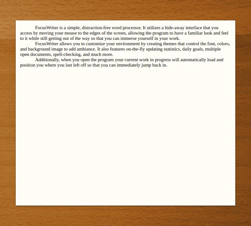 focuswriter example
