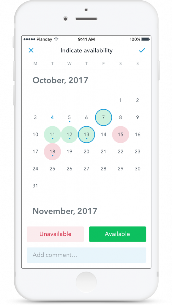 Planday employee scheduling feature