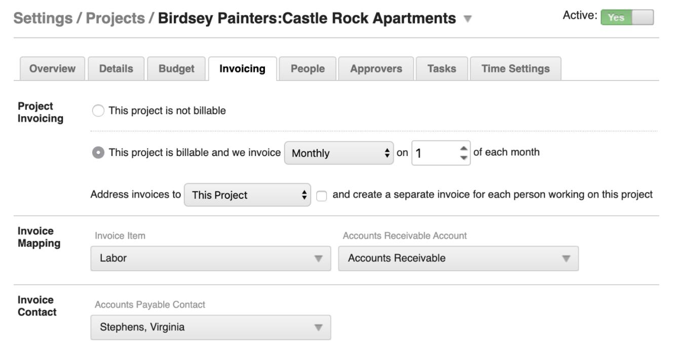 SpringAhead client Invoicing tool