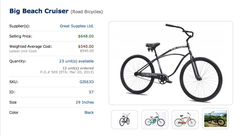 SalesBinder item management