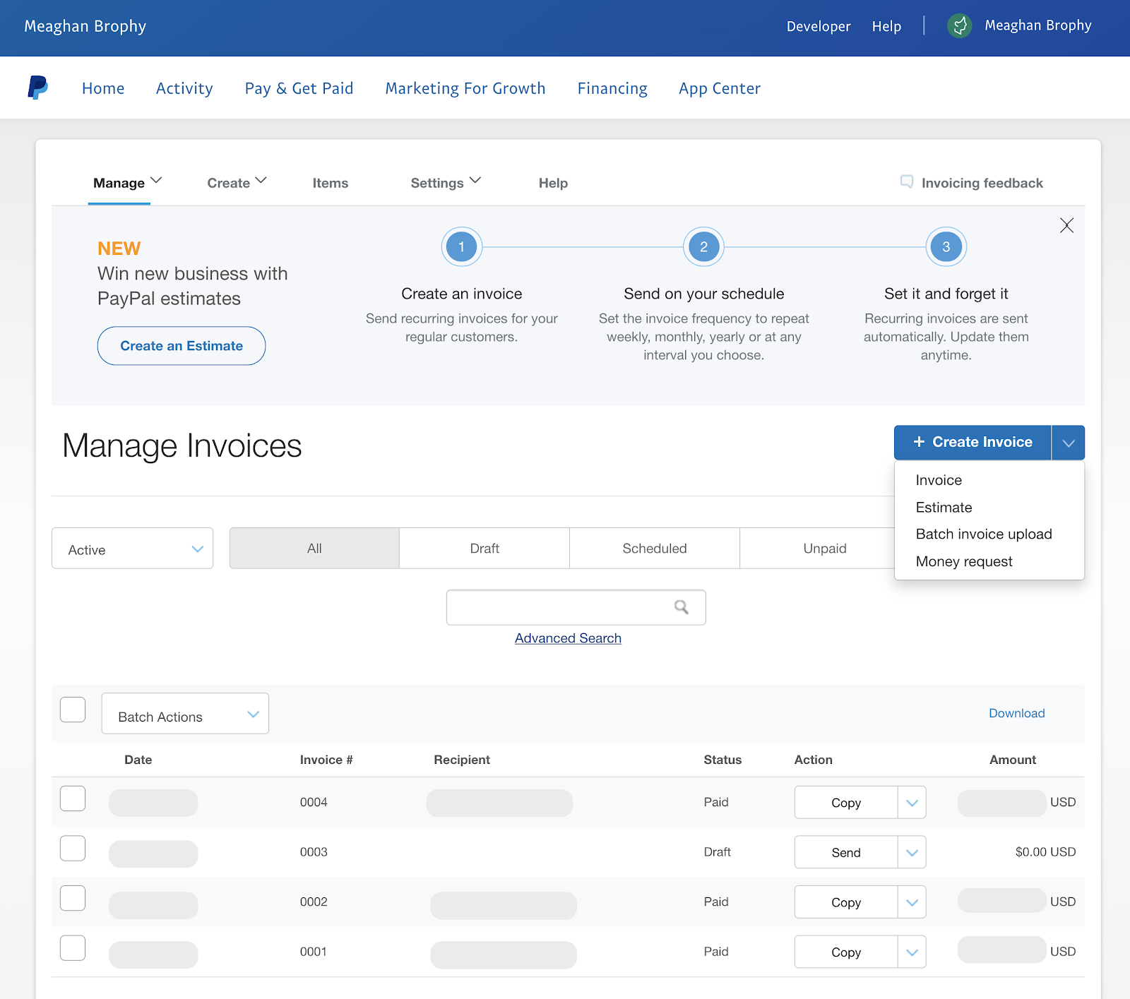 paypal invoicing tools