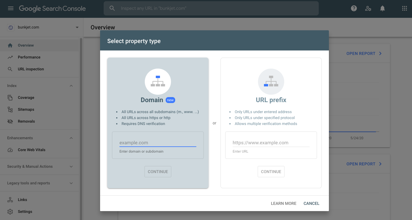 Add Your Domain to Google Search Console