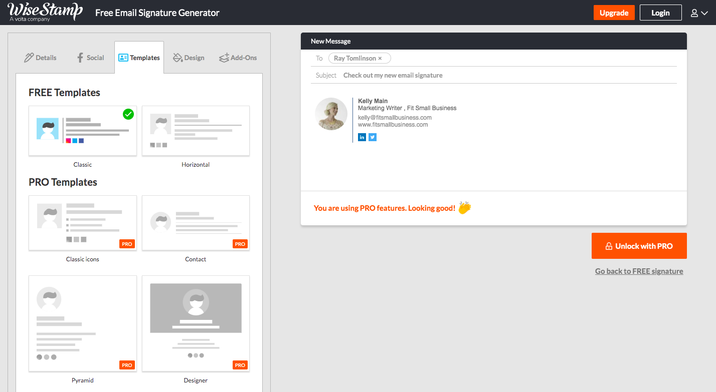 Custom Email Signature With WiseStamp