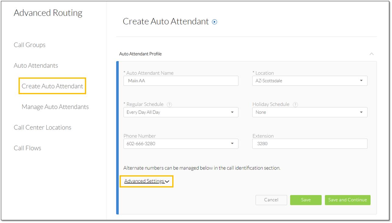 Create Auto Attendant Management Tool in Nextiva