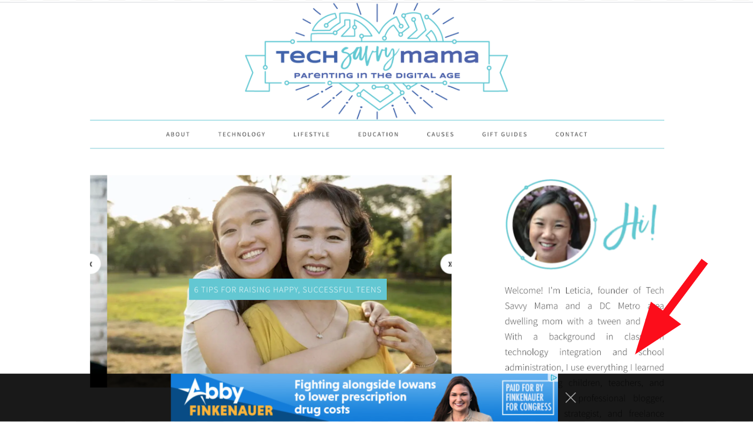 Mom Blog Sample Working With Tech Network