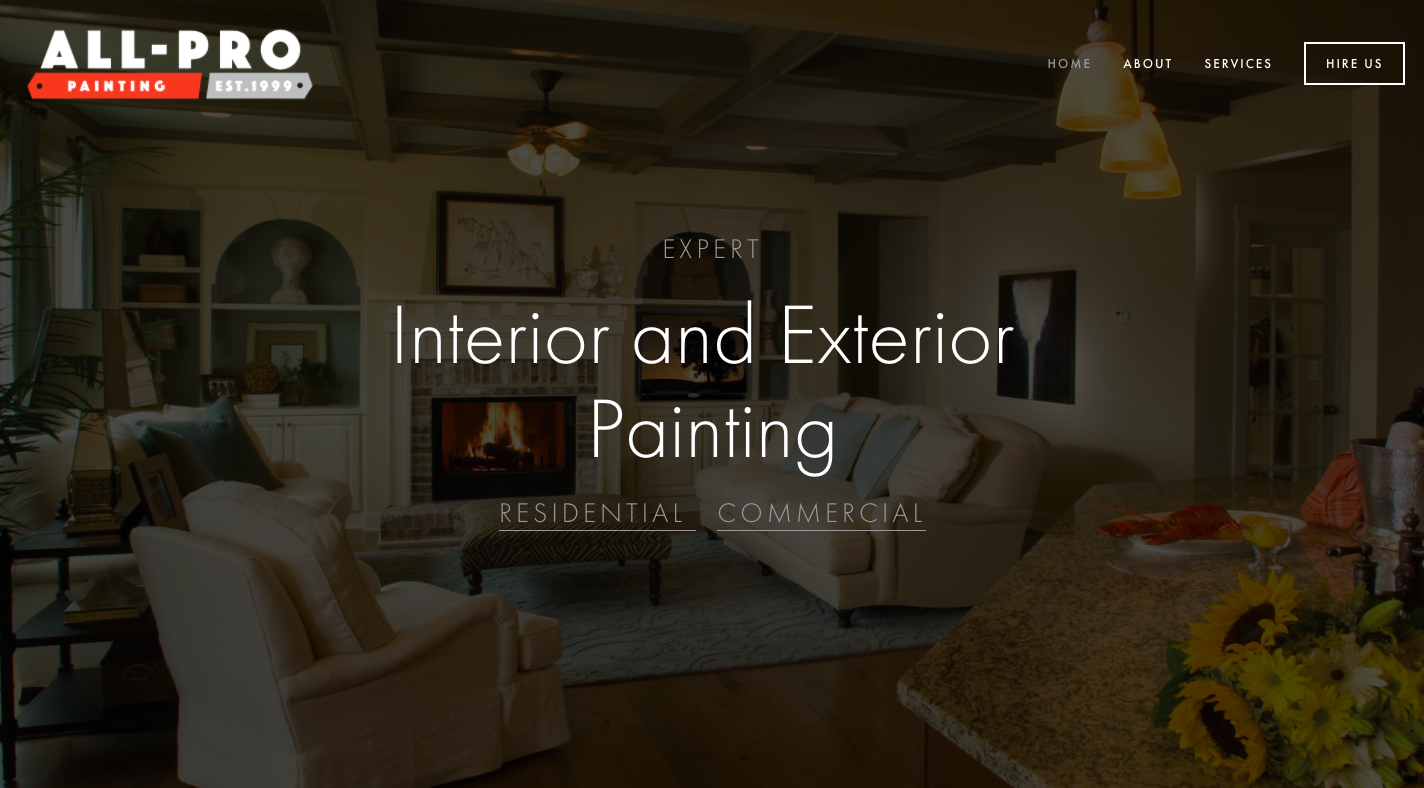 All-Pro Painting Website Example