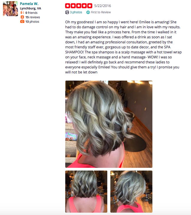 Yelp Review on Before & After Hair Design
