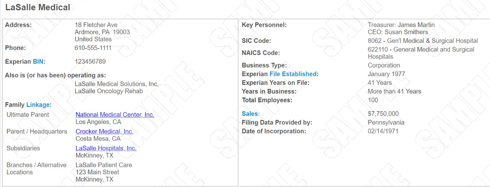 Company's Business Profile